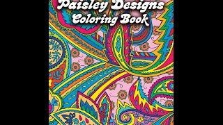 Flip Though Dover Publications Paisley Designs Coloring Book By Marty Noble