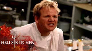 Chef RUNS OUT OF SALMON DURING SERVICE | Hell's Kitchen