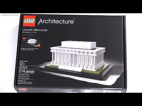 Vidéo LEGO Architecture 21022 : Lincoln Memorial (Washington, Etats-Unis)