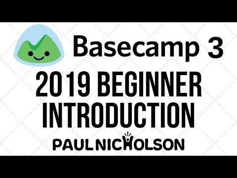 Basecamp 3 Beginner Introduction Tutorial 2019 - YouTube