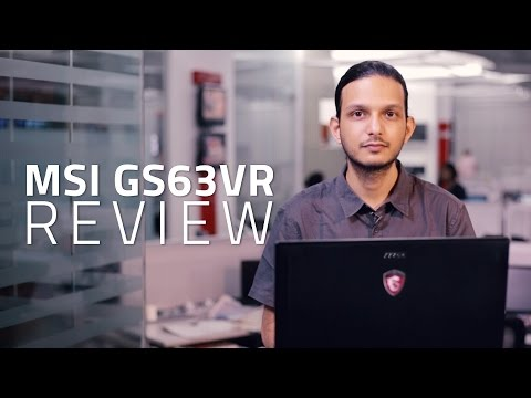 MSI GS63VR 6RF Stealth Pro Gaming Laptop Review