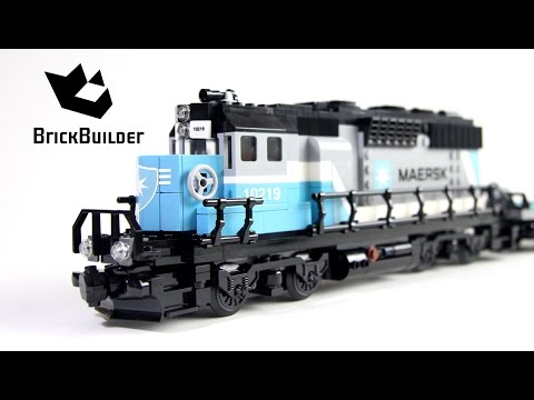 Vidéo LEGO Creator 10219 : Le train porte-conteneurs Maersk