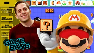 BLINDFOLDED SUPER MARIO MAKER! (Game Bang)