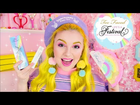 🌈💕 TOO FACED LIFE'S A FESTIVAL FIRST IMPRESSIONS GRWM 💕🌈