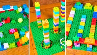 3 EASY LEGO DUPLO Games Ideas to Play with your Kids! LEGO Home Development Activities for Children