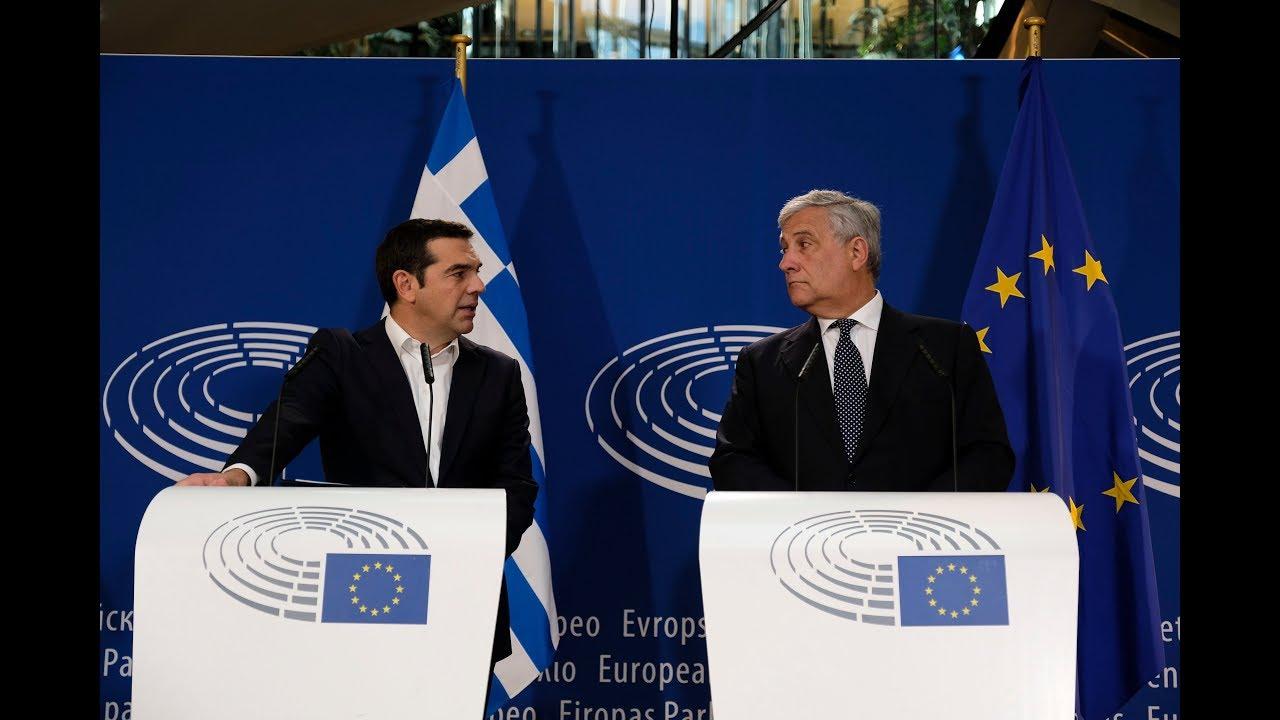 Κοινές δηλώσεις με τον Πρόεδρο του ΕΚ Αντόνιο Ταγιάνι