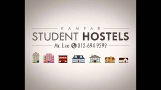 preview picture of video 'Taman Bandar Baru Kampar Putra Student Hostel Whole House Rental in Kampar Perak Malaysia'