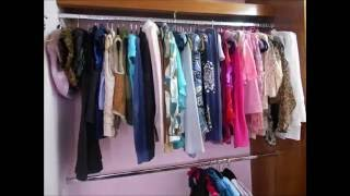 COMO ORGANIZAR TU CLOSET EN 1 MINUTO /HOW TO ORGANIZE YOUR CLOSET IN A MINUTE