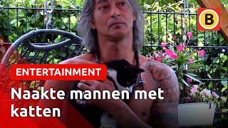 Naakte mannen op de foto met gehandicapte katten voor kalender | Omroep Brabant
