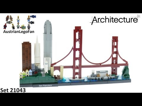 Vidéo LEGO Architecture 21043 : San Francisco, California, USA