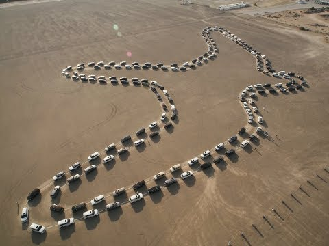 2019 Nissan Patrol Breaks Guinness World Record In Dubai For Largest Synchronised Car Dance