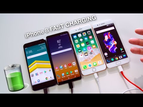 iPhone 8 Plus vs Samsung Galaxy Note 8 vs OnePlus 5 vs HTC U11, gli Speedy Gonzales della ricarica rapida
