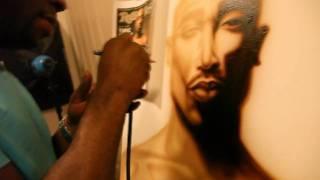 2Pac Airbrush Painting