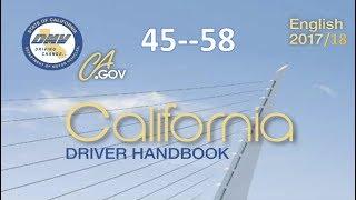 California Driver Handbook | Audio...(REAL VOICE)...DMV.....45--58