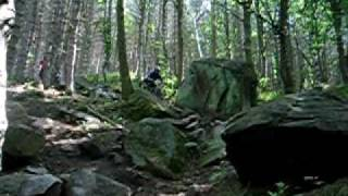 preview picture of video 'Wharncliffe Woods DH rock garden and tree drop'