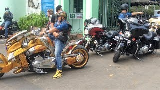 Tiếng pô làm náo loạn Sài Gòn của dàn Harley Davidson và đoàn xe cổ trong THE ROAD TO SAIGON 2018