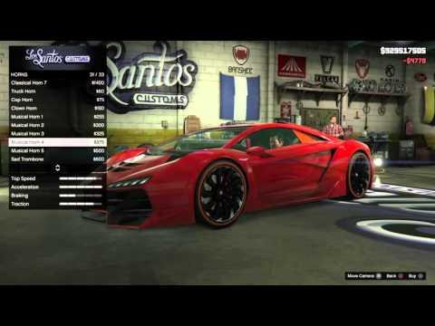 Video GTA 5 PS4 - Cara Modifikasi Mobil Mewah