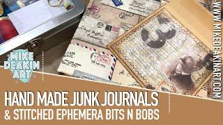 Handmade Junk Journals & Stitched Ephemera Bits