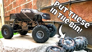Is this NOW the Worlds Best Mini RC Crawler? Proper Crawler tyres on the HBX Devastator.