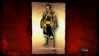 Mortal Kombat 9 - Krypt - All Alternate Costumes