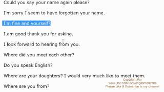 English Phrases - Meeting someone new part 1