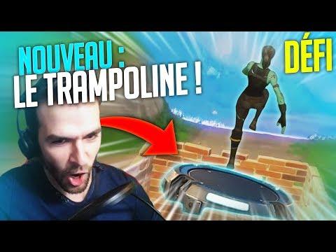 🥇 DÉFI : TOP1 au NOUVEAU TRAMPOLINE WTF & FUN !! (Fortnite Battle Royale Fr)
