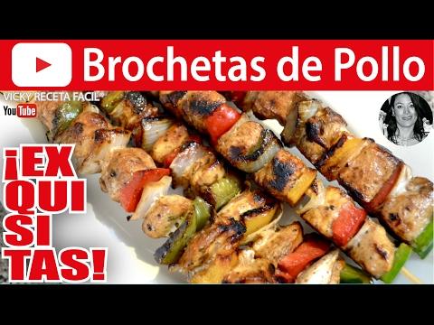 CÓMO HACER BROCHETAS DE POLLO | Chicken Skewers Vicky Receta Facil