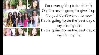 Best day of my life Cimorelli cover lyrics