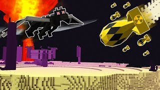 EXPLODING A MINECRAFT NUKE IN THE END DIMENSION!?... (DON'T TRY)