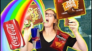 HEALTHY PERSON EATS JUNK FOOD FOR THE FIRST TIME CHALLENGE | DIY KITCHEN | THE RENTS