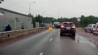Авария на дамбе Козын Киев 23.06.2017г.