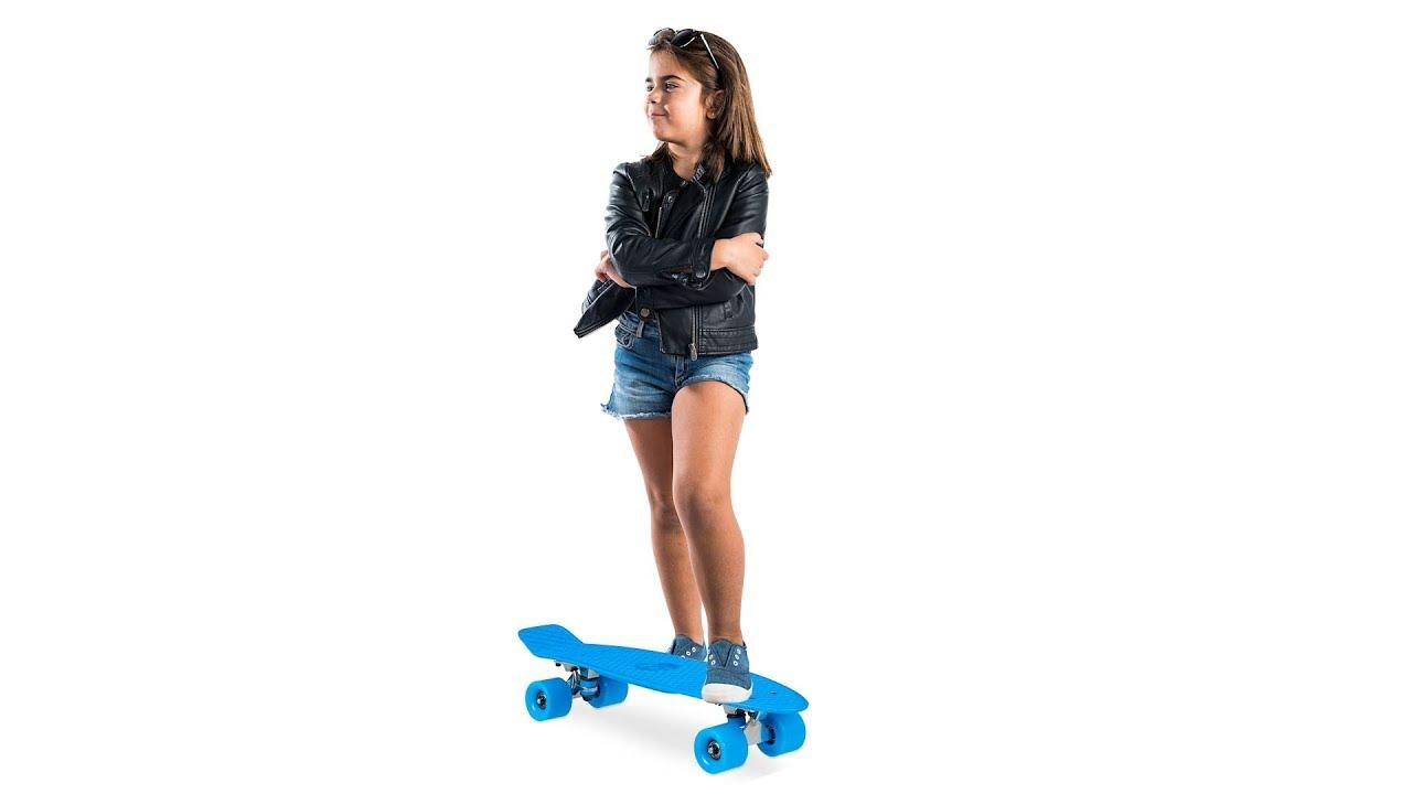 Video von: Retro Skateboard 22 Zoll mit ABEC 7
