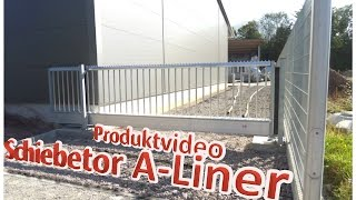 preview picture of video 'Produktvideo: Alu-Schiebetor A-Liner'