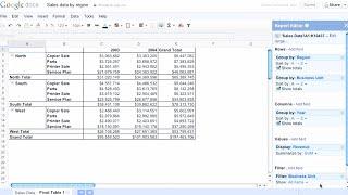 Pivot Tables in Google Docs