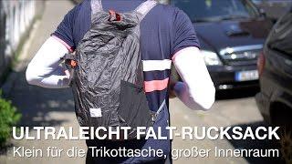 Ultraleicht-Falt-Rucksack Matador Freerain24 und DayLite16 Rennrad- und Mountainbike-Rucksack