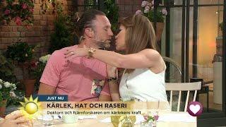 Här Kysser Tilde Peter - Vill Få Hans Testosteron - Nyhetsmorgon (TV4)