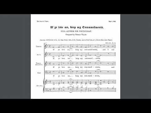 "Roy Femenella's horn quartet arrangement of ""If Ye Love Me,"" a gorgeous motet from 1565 by Thomas Tallis."