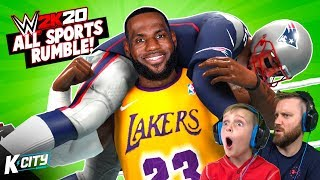 ALL SPORTS Royal Rumble (NFL and NBA Superstars in WWE 2k20)  K-CITY GAMING