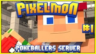 Road To Pokemon Master | Pokeballers Pixelmon Server | Ep 1