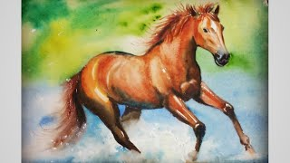 How To Draw A Horse With Watercolour Step By Step