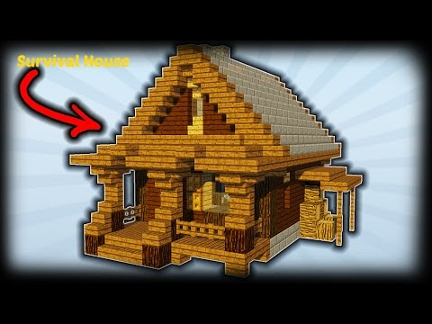 Minecraft how to build a survival house starter house for How to build my house