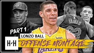 Lonzo Ball Rookie Montage, Full Offense Highlights 2017-2018 (Part 1) - Making NBA Debut!