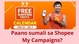 PAANO MAG JOIN SA SHOPEE CAMPAIGNS? - SHOPEE CAMPAIGN COMMISSION FEES