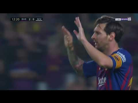 Leo Messi vs Sevilla (Goal Fc Barcelona) 20/10/18 home