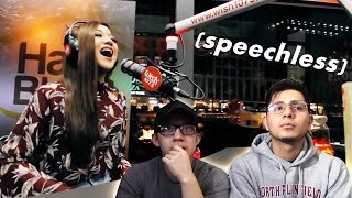 """GUYS REACT TO Morissette Amon """"You And I"""" LIVE on Wish 107.5 Bus"""