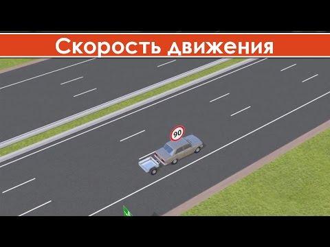 Разрешенная скорость движения автомобиля / Максимально разрешенная скорость движения