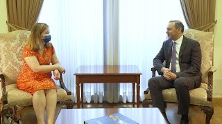 Acting Minister of Foreign Affairs Armen Grigoryan held a meeting with French Member of the European Parliament Nathalie Loiseau