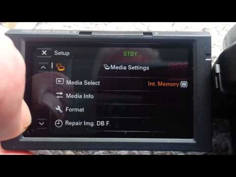 HDR-PJ540 Sony Handycam: Inserting SD Card & Menu Options Check