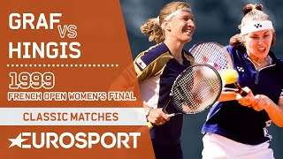 Steffi Graf Vs Martina Hingis | French Open 1999 Women's Final Highlights | Eurosport