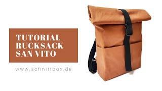 Rucksack tutorial, Rucksack Rolltop nähen
